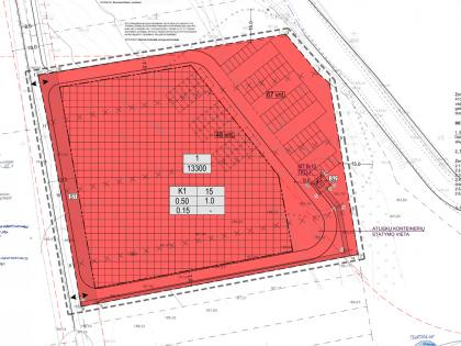 Detailed plan for commercial object in the territory of 1.33 ha in Vilnius region
