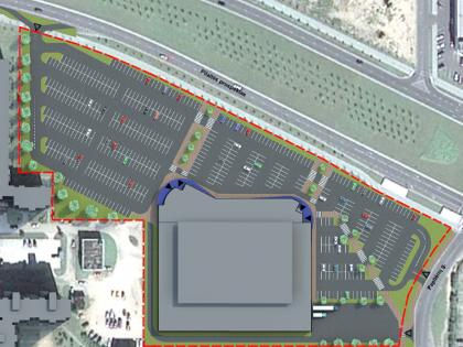 Detailed plan of the site for the shopping center in Pilaitė avenue, Lithuania